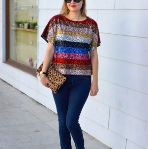 J Crew sequin blouse